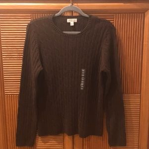 ST. Johns Bay Brown Classic Crew Sweater.